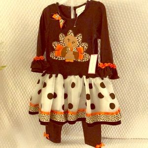 NWT Emily Rose Thanksgiving 2 piece size 3T